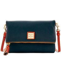 Dooney & Bourke - Pebble Grain Leather Foldover Zip Crossbody Bag - Lyst