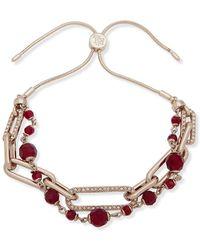 Ralph Lauren - Crystal Chainlink Slider Bracelet - Lyst