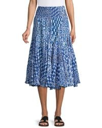 Lord + Taylor Printed Ruffled Skirt