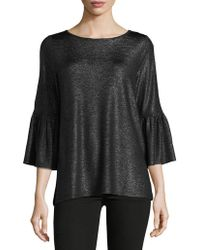 Jones New York - Roundneck Bell Top - Lyst