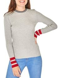 Dorothy Perkins - Ribbed Long-sleeve Sweater - Lyst