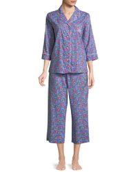 Lauren by Ralph Lauren - Plus Two-piece Floral Pyjama Set - Lyst