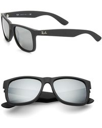 Ray-Ban - Boyfriend Mirrored Wayfarer Sunglasses - Lyst