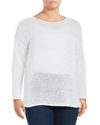 Lord & Taylor - Plus Boxy Knit Pullover - Lyst