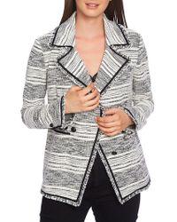 1.STATE - Fringe-trimmed Striped Blazer - Lyst