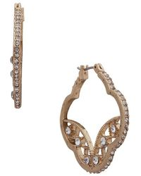 Lonna & Lilly - Goldtone Filigree Crystal Earrings - Lyst