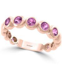 Effy - 14k Rose Gold & Amethyst Link Ring - Lyst
