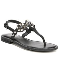 Fergie - Mariana Studded Leather T-strap Sandals - Lyst