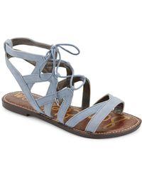 Sam Edelman - Gemma Lace-up Leather Sandals - Lyst