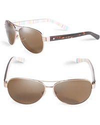 Kate Spade - 58mm Dalia Aviator Sunglasses - Lyst