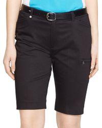 Lauren by Ralph Lauren - Stretch Cotton Golf Shorts - Lyst