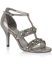 Adrianna Papell - Amabel Beaded Sandals - Lyst