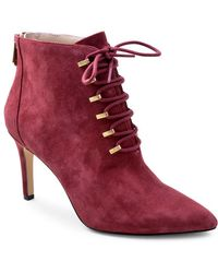 Adrienne Vittadini - Norton Suede Booties - Lyst