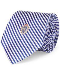 Lauren by Ralph Lauren - Logo Crest Seersucker Silk Tie - Lyst