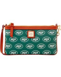Dooney & Bourke - Nfl Jets Large Slim Wristlet - Lyst