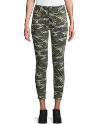 Kensie - Camo Ankle Cropped Trousers - Lyst