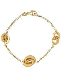 Lord & Taylor - 14k Gold Interlock Chain Bracelet - Lyst
