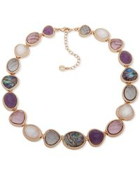 Anne Klein Mother-of-pearl & Crystal Collar Necklace