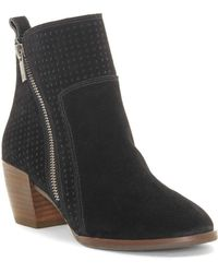 Lucky Brand - Lashiya Suede Booties - Lyst