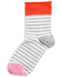 Hue - Roll-top Shortie Socks - Lyst
