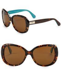 Kate Spade - 56mm Judyann Square Sunglasses - Lyst