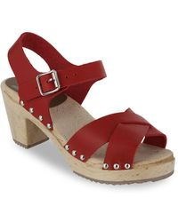 MIA - Gertrude Leather Ankle-strap Sandals - Lyst