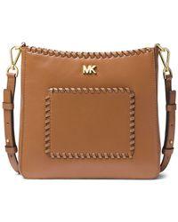 MICHAEL Michael Kors - Gloria Swing Leather Crossbody Bag - Lyst