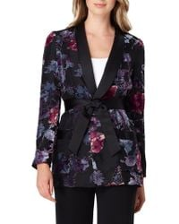 Tahari - Belted Floral Jacket - Lyst