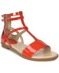 Tahari - Wave Flat Leather Sandals - Lyst