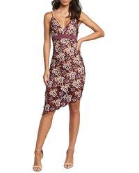 Bardot Dalia Asymmetrical Lace Dress - Multicolour