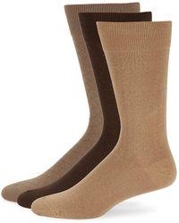 Polo Ralph Lauren - Three-pack Combed Cotton Dress Socks - Lyst