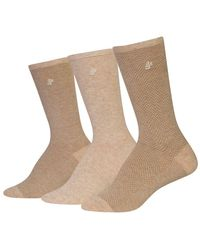 Ralph Lauren - 3-pack Tweed Trouser Socks - Lyst