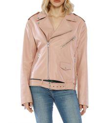 Walter Baker - Rose Hope Leather Moto Jacket - Lyst