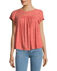 Free People - Linear A-line Tee - Lyst