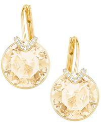 Swarovski - Bella Large V Pierced Earrings - Lyst