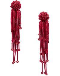 Kate Spade - Beaded Tassel Drop Earrings - Lyst