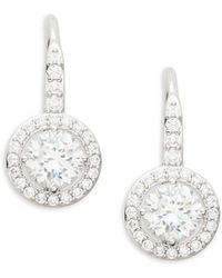 Nadri - Crystal And Sterling Silver Fixed Framed Earrings - Lyst