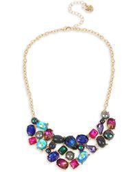 Betsey Johnson - Mixed Stone & Bead Bib Necklace - Lyst