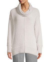 Jones New York - Textured Cowlneck Sweater - Lyst