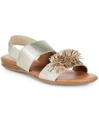 Andre Assous - Niri Metallic Leather Sandals - Lyst