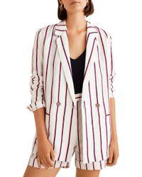 Mango - Americana Braid Stripe Unstructured Blazer - Lyst