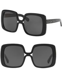 COACH - 56mm Square Sunglasses - Lyst