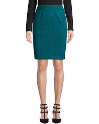 Calvin Klein - Faux Suede Pencil Skirt - Lyst