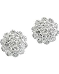 Effy - Bouquet Diamond And 14k White Gold Earrings - Lyst