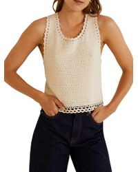 Mango - Isla Crocheted Cotton Top - Lyst