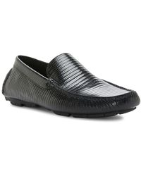 Donald J Pliner - Textured Leather Loafers - Lyst