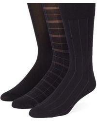 Calvin Klein - Three-pack Plaid And Striped Socks - Lyst