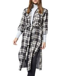 Sanctuary - Boyfriend For Life Plaid Midi Top - Lyst