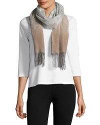 Lord & Taylor - Ombre Paisley Cashmere Scarf - Lyst