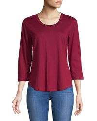 Jones New York - Long-sleeve Scoopneck Tee - Lyst